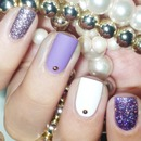 Silver, white and violet