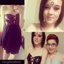 My formal makeup and dress