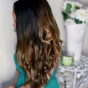 Curls using Bellami wand. Subscribe for a tutorial!