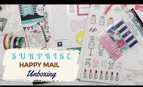 SURPRISE HAPPY MAIL UNBOXING!  | THE HAPPY PLANNER SUPPLIES