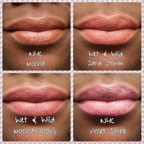 Wet N Wild/ NYC Neutral Lipstick Swatches | Alexandria L
