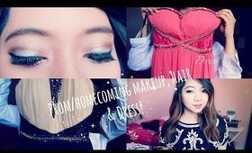 Homecoming / Prom Makeup,Hair & Dress!