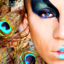 Peacock makeup for contest
