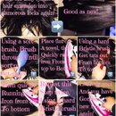 Old tatty synthetic hair, into new!