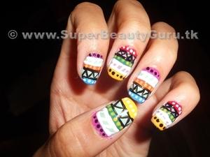 Tribal print nail tutorial: http://bit.ly/x7wsIf
