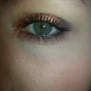 Copper sparkle look