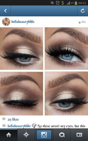 Dress for formal. Eye makeup looks?