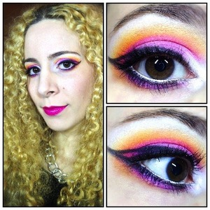 I whipped up this look for a fun summer night out and thought I'd share it with you. I went for bright flirty colours with a wide eyed look and a funky eyeliner shape. http://michtymaxx.blogspot.com.au/2013/06/summer-date-night-makeup.html