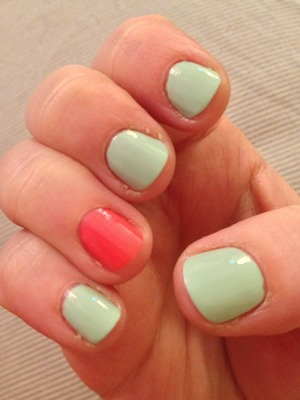 My take on the mint and coral trend