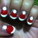 Santa hat nails!