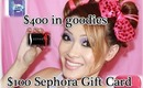 HUGE $500 Giveaway ~ 19 WINNERS!!!!!  ($400 in goodies and $100 Sephora Gift Card)