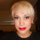 Simple with red lips