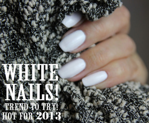 Inspired by all the snowy weather of late! Pale nails is also big for Spring too! :)  www.kakabeautyblog.com
