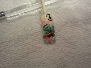 I didnt some water marbling , dotting tool and Konad stamps