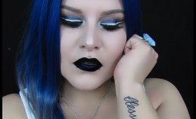 Dark Metallic Gray Makeup Look | Mystiquee1986