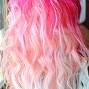 Half pink hair.