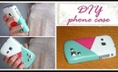 DIY PHONE CASE: geometric print & studs!! (EASY&CHEAP)