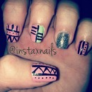 Tribal design nails