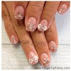 Pink glitter with silver hologram nails : FingerTip Fancy