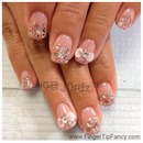 Pink glitter with silver hologram nails : FingerTip Fancy