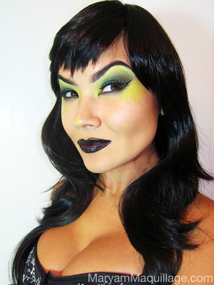 my go-to Halloween costume and makeup. How-to & products: http://www.maryammaquillage.com/2012/10/the-modern-witchy.html