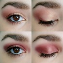 Day & Night with ELF Baked Shadows, Enchanted & Burnt Plum