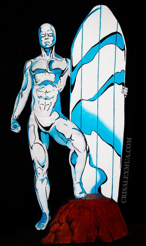 Full body paint recreating Ron Lim's Silver Surfer issue #20