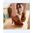 Thin Heel Fashion Lace Up Boots