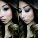 purple eyeshadow ombré hair