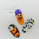 DIY Halloween nail art with Korean pumpkins