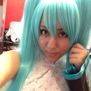 Miku hatsune (cosplay test wig/makeup)