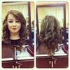 flat iron curls!