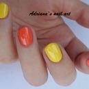 Yellow and orange Basic Nagellack