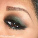 Green Smokey Eye for Brown Eyes