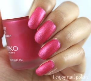 http://www.ienjoynailpolish.com/2016/07/kiko-pink-flambe.html