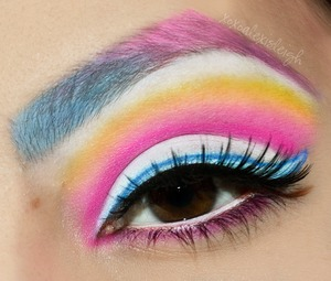 A makeup look I did inspired by MS MR Candy Bar Creep Show album art for a makeup contest