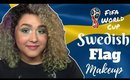 Swedish Flag Inspired Makeup Tutorial -FIFA World Cup- (NoBlandMakeup)