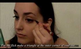 Dramatic Cat Eye and Pink Blush Makeup Tutorial