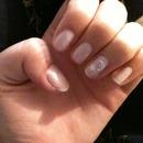moon and star nail design