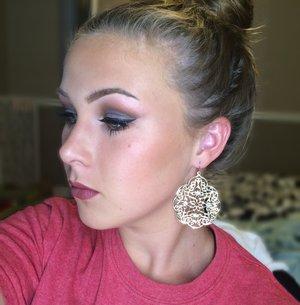 Makeup inspired by Amanda Ensing
