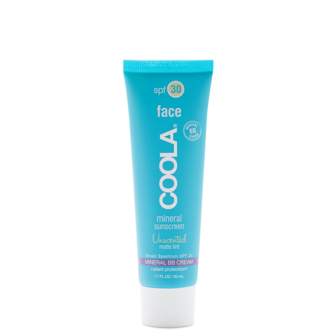 COOLA Mineral Face Sunscreen SPF 30 Unscented Matte Tint product swatch.