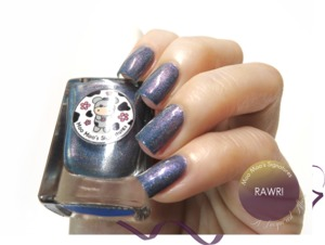 Swatch of RAWR! by indie nail polish artisan Moo Moo's Signatures. More swatches and review up on the revamped http://alacqueredaffair.com/moo-moos-signatures-moo-moos-story-part-iii/