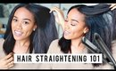 8 Tips for Straighter Hair | Flat Ironing Tips + Technique