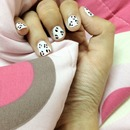 cow nailart (leopard style)