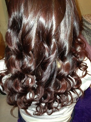curled my hair with a hot tools curling iron