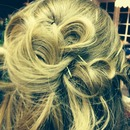 Beautiful dance hair