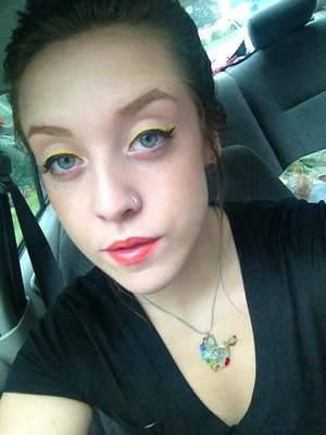 after following thebeautyvault's (Irina G) Winged Yellow Spring look =)