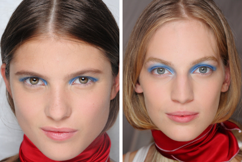 Dick Page NYFW Marc Jacobs Makeup: Blue eyeshadow