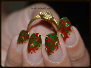 For more pics, Please visit http://lovefornailpolish.com/simple-elegant-nail-art-designs-red-flower-nail-designs  Nail Art Video Tutorial @ https://www.youtube.com/watch?v=ZT10m0pqToA