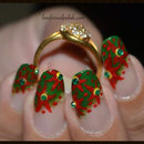 Red Flower Nails